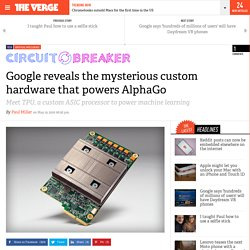 Google reveals the mysterious custom hardware that powers AlphaGo