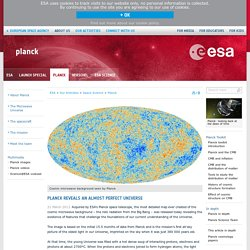 Planck reveals an almost perfect Universe / Planck / Space Science