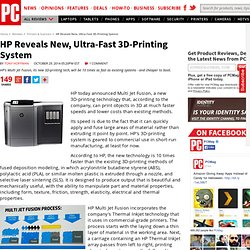 HP Reveals New, Ultra-Fast 3D-Printing System