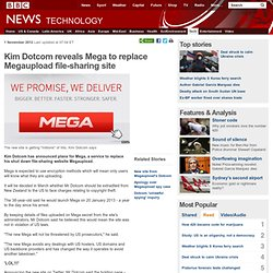 Kim Dotcom reveals Mega to replace Megaupload file-sharing site