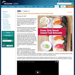 Study Reveals Seafood Fraud Nationwide