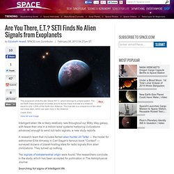 SETI Search Reveals No Alien Signals from Exoplanets