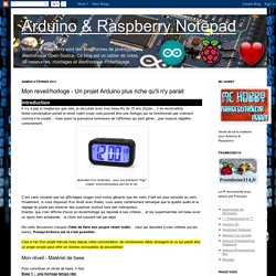 Mon reveil/horloge - Un projet Arduino plus riche qu'il n'y parait