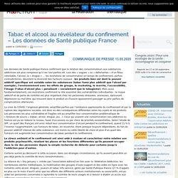Tabac et alcool au révélateur du confinement - Les données de Santé publique France