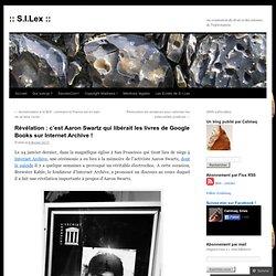 Révélation : c'est Aaron Swartz qui libérait les livres de Google Books sur Internet Archive !