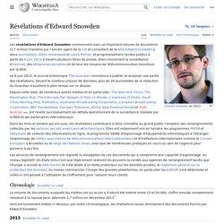 Révélations d'Edward Snowden
