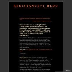 """Revélations sur le 11 Septembre… """"Trop secret pour être publié"""", un rapport d'une agence du ministère de l'énergie américain (DOE) révèle que les attentats du 11 septembre 2001 de New York furent une attaque nucléaire…"""