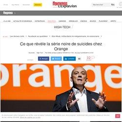 Ce que révèle la série noire de suicides chez Orange