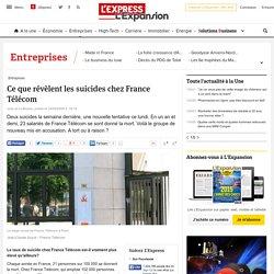 Ce que révèlent les suicides chez France Télécom