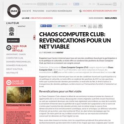 Chaos Computer Club: Revendications pour un Net viable » Article » OWNI, Digital Journalism
