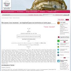 SENAT - JANVIER 2008 - Rapport d'information: Revenons à nos moutons : un impératif pour nos territoires et notre pays