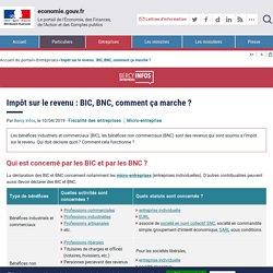 Impôt sur le revenu : BIC, BNC, comment ça marche ?