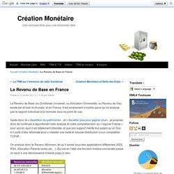 Le Revenu de Base en France