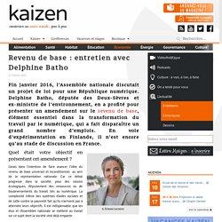 Revenu de base : entretien avec Delphine Batho - Kaizen