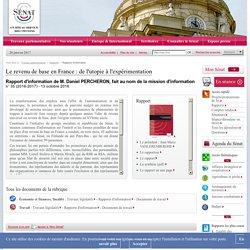 Le revenu de base en France : de l'utopie à l'expérimentation - Sénat