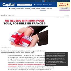 Un revenu minimum pour tous, possible en France