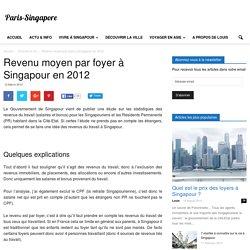 Revenu moyen par foyer à Singapour en 2012