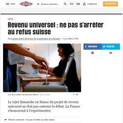 Revenu universel: ne pas s'arrêter au refus suisse
