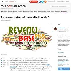 Le revenu universel: une idée libérale?