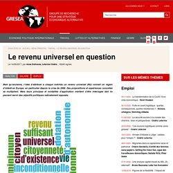 Le revenu universel en question