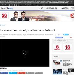 Le revenu universel, une bonne solution ?