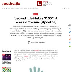 Second Life Makes $100M A Year in Revenue [Updated]