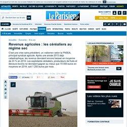 Revenus agricoles : les céréaliers au régime sec