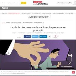 La chute des revenus des auto-entrepreneurs se poursuit