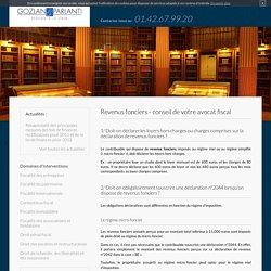 Revenus fonciers, conseil avocat fiscal Paris, fiscalité Paris 17