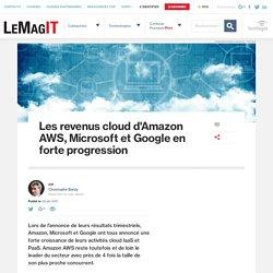 Les revenus cloud d'Amazon AWS, Microsoft et Google en forte progression