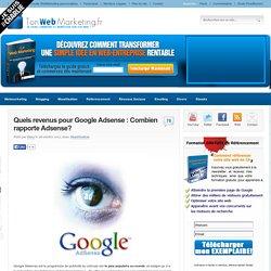 Quels revenus pour Google Adsense : Combien rapporte Adsense?