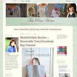 ModeS Fabric Review ~ Reversable Tote/Crossbody Bag Tutorial