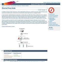 Reverse Proxy Guide - Apache HTTP Server Version 2.4