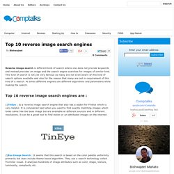 Top 10 reverse image search engines