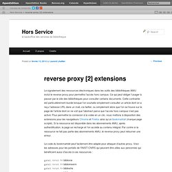 reverse proxy [2] extensions