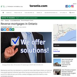reverse mortgages in Toronto