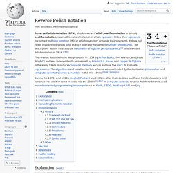 Reverse Polish notation - Wikipedia