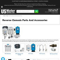 Reverse Osmosis Parts And Accessories