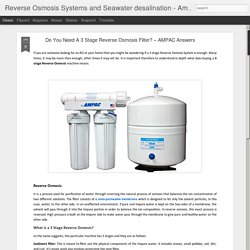 Do You Need A 3 Stage Reverse Osmosis Filter