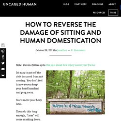 How to Reverse the Damage of Sitting and Human Domestication - Uncaged Human