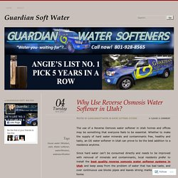 Water Softener Products in Utah