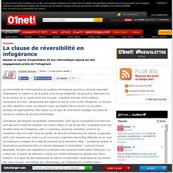 La clause de réversibilité en infogérance