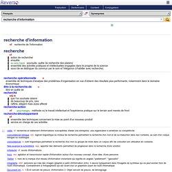 Reverso : dictionnaire pour mobile