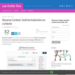 REVERSO CONTEXT : outil de traduction en contexte