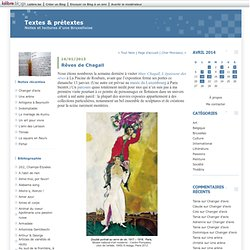 Rêves de Chagall : Textes & prétextes