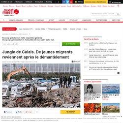 Jungle de Calais. De jeunes migrants reviennent après le démantèlement