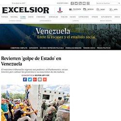 Revierten 'golpe de Estado' en Venezuela