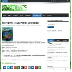 Review of RNA-Seq Data Analysis Software Tools