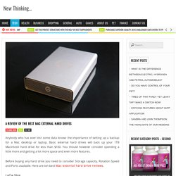 Mac External Hard Drive Reviews