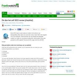 De doe-het-zelf SEO review [checklist]
